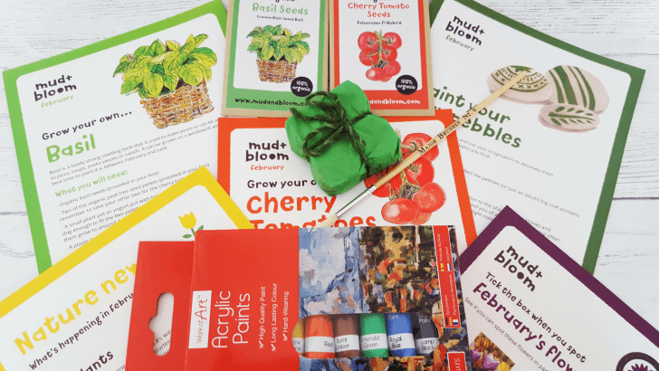 Mud and Bloom Kids Nature, Craft & Gardening February Box – review