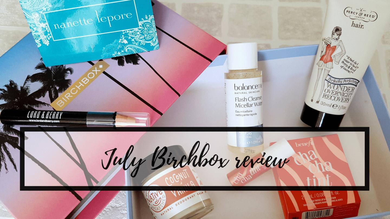 July Birchbox review: Summer Daze
