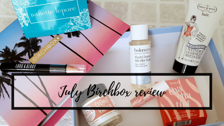 July Birchbox review: Summer Daze