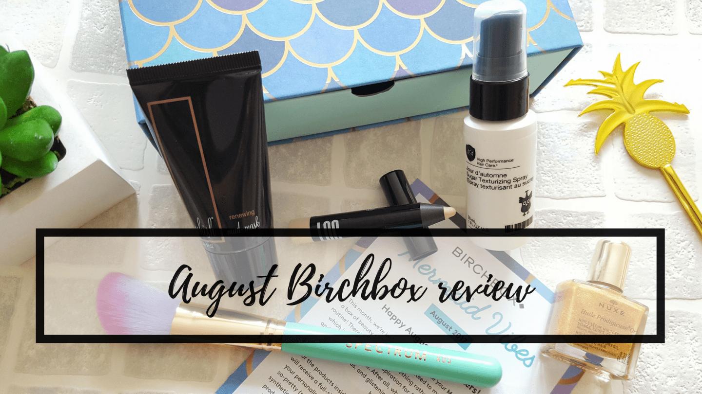 Mermaid Vibes: August Birchbox review