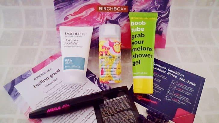 Giveaway – October's Birchbox: Feeling Good
