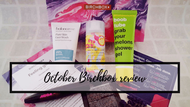 Feeling good: October Birchbox review